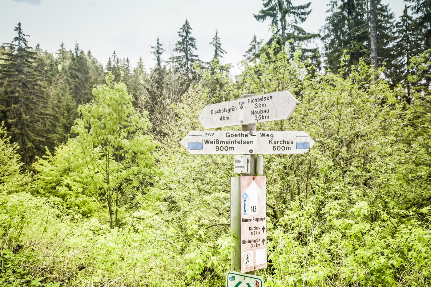 Goetheweg – Karches – Weißmainfelsen