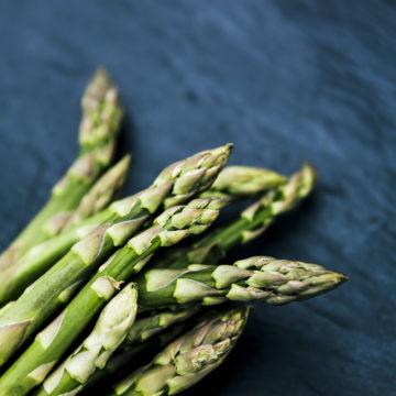 fresh bio green asparagus
